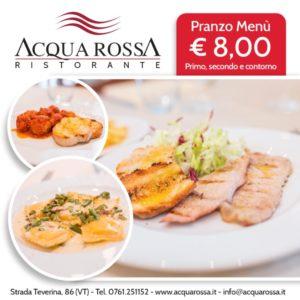 Menù pranzo 8 Euro